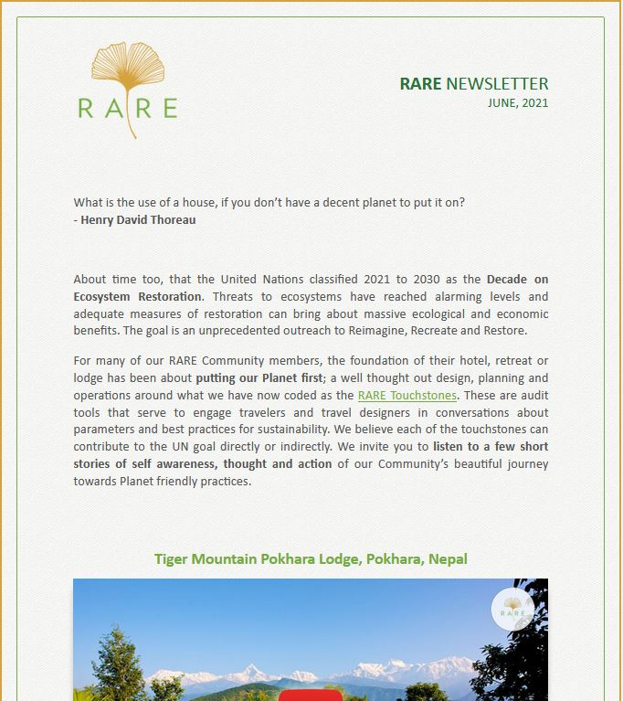 RARE Newsletter | Vol 36 | Treading Softly is a Long Journey