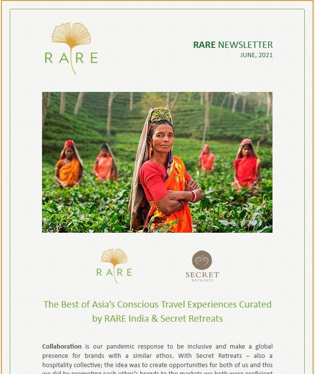 RARE Newsletter | Vol 38 | Richer Discoveries and Intimate Experiences in Asia with Secret Retreats
