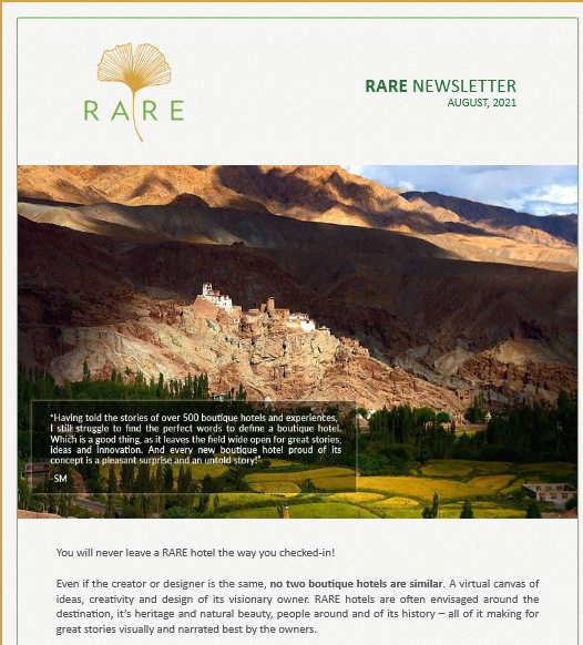 RARE Newsletter | Vol 41 | An August Community: Boutique Hotels by RARE India