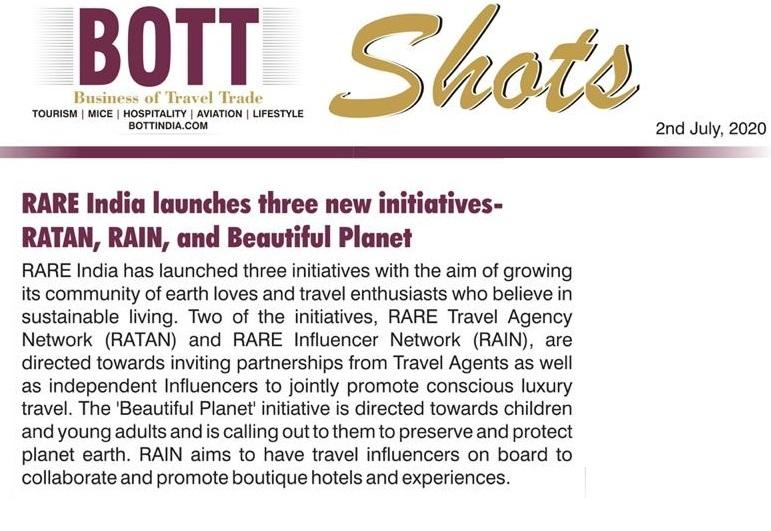 Bott Shots : RARE Launches 3 new initiatives