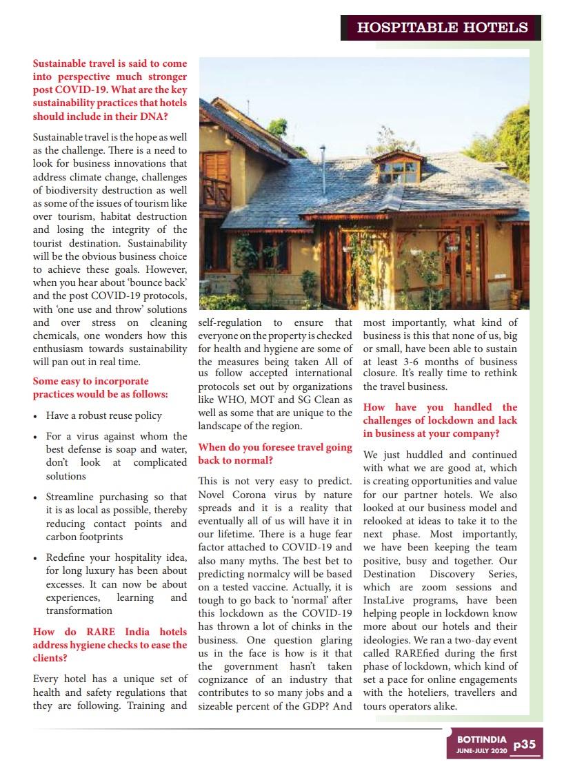 Bott India : Hospitable Hotels