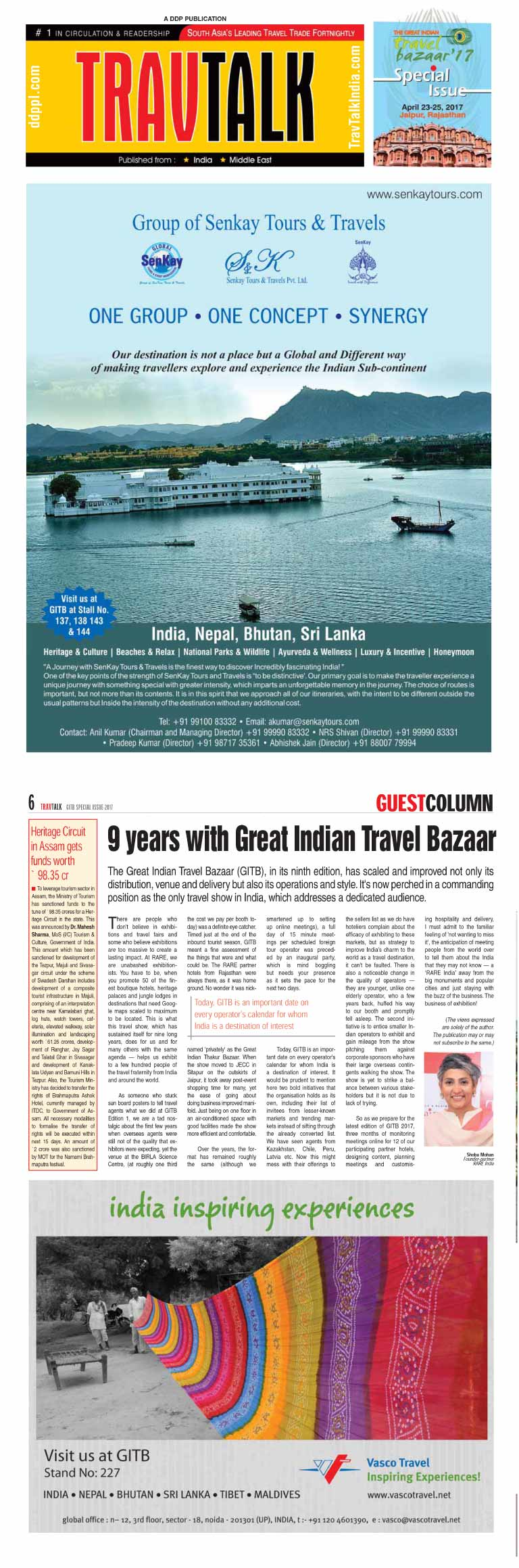 9 years with Great Indian Travel Bazaar