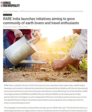 Express Food & Hospitality : RARE India launches initiatives